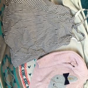 Gap dress/bunny sweater 4-5